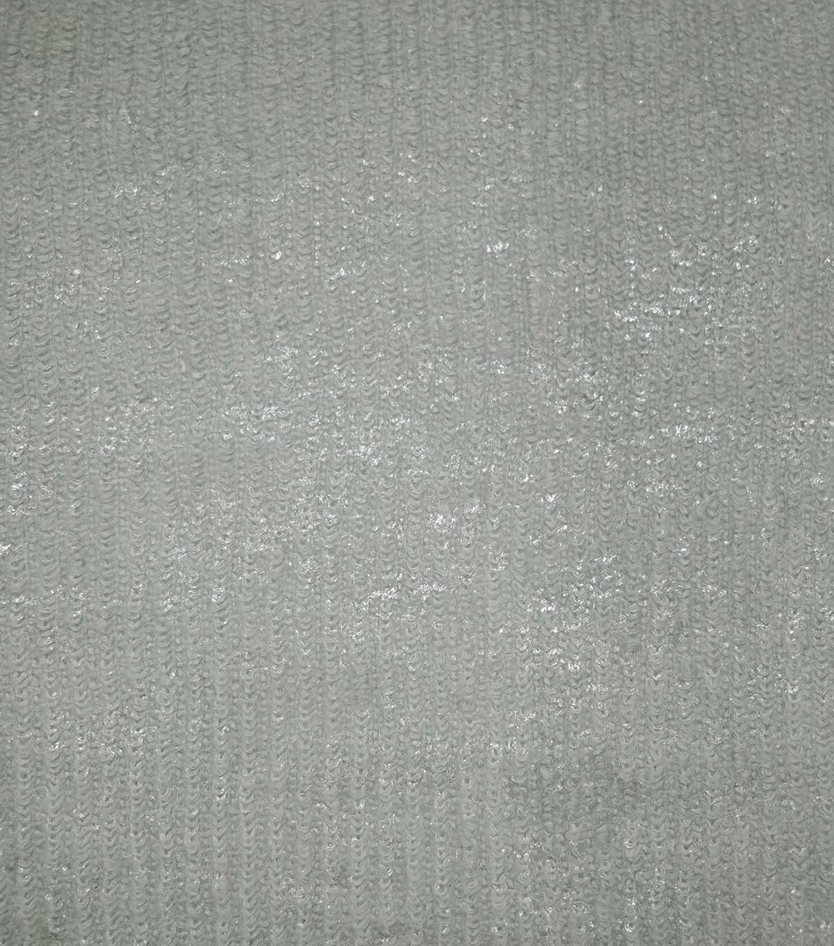 Textured Sweater Knit Fabric 57\u0022-Gray Silver Foil