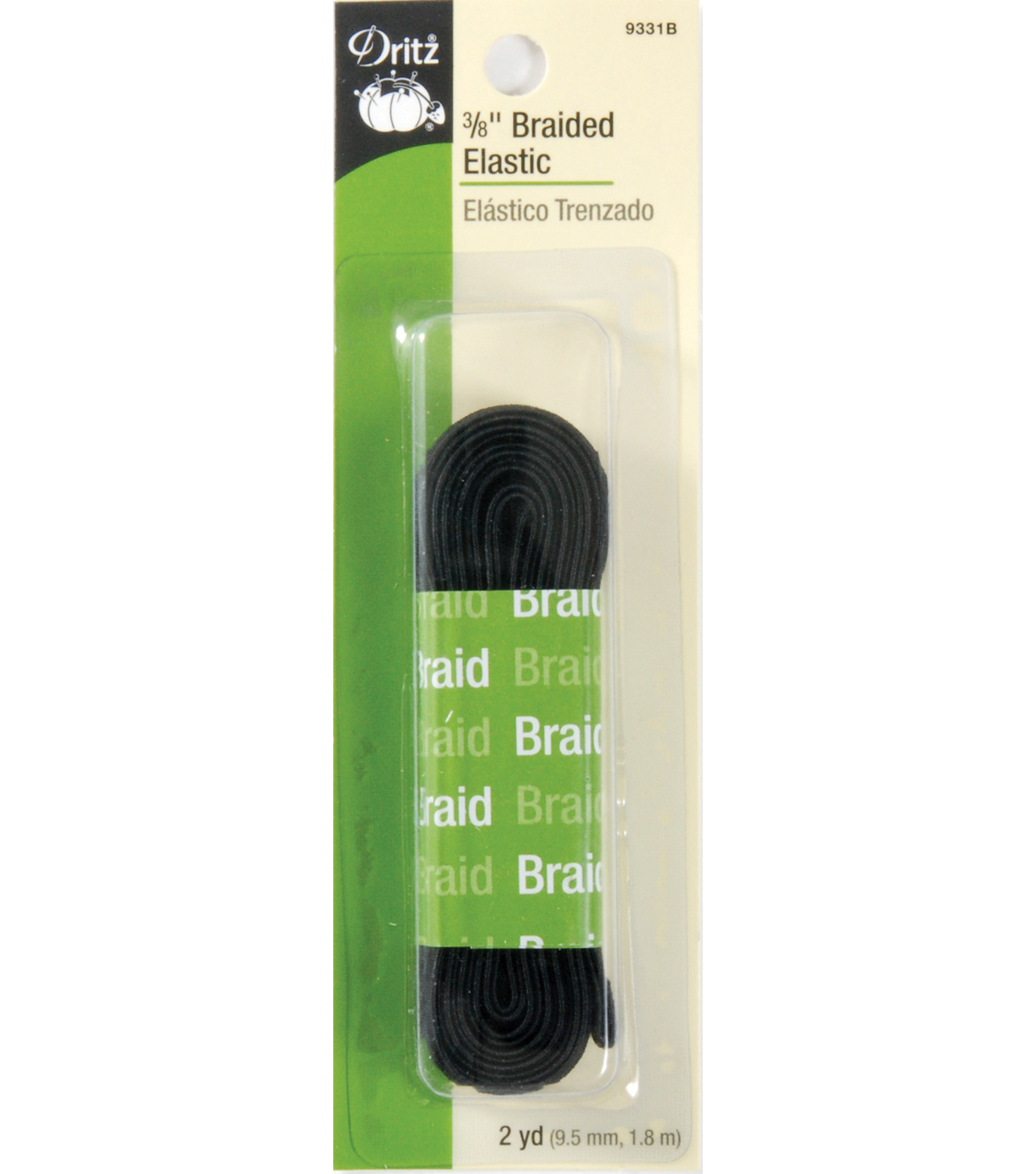 Dritz Braided Elastic 0.38\u0027\u0027 Wide x 2Yds