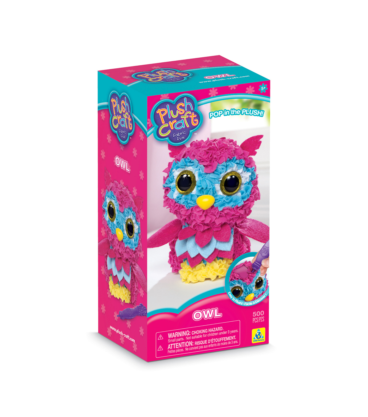 PlushCraft 3D Plush Owl Craft Kit