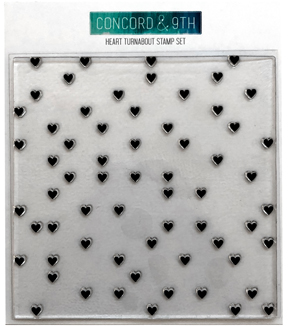 Concord & 9th Clear Acrylic Stamps-Heart Turnabout
