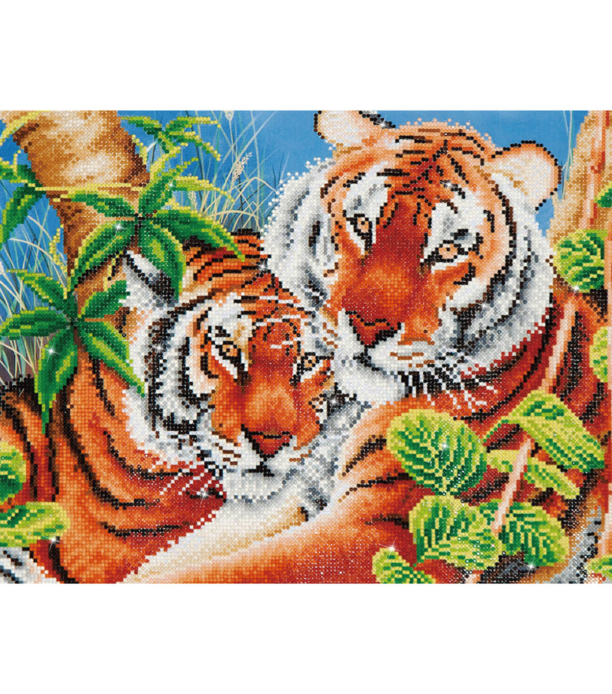Diamond Embroidery Facet Art Kit 23.5\u0022X17\u0022-Tender Tiger
