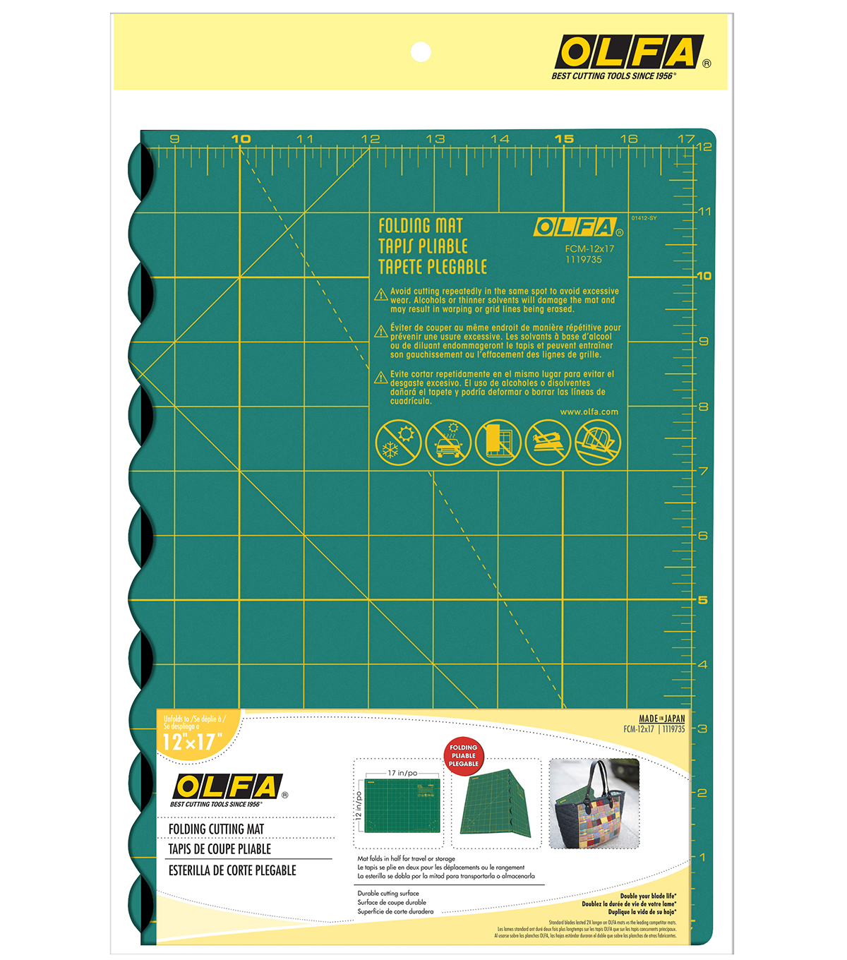 Olfa Folded Cutting Mat - 17\u0022X24\u0022