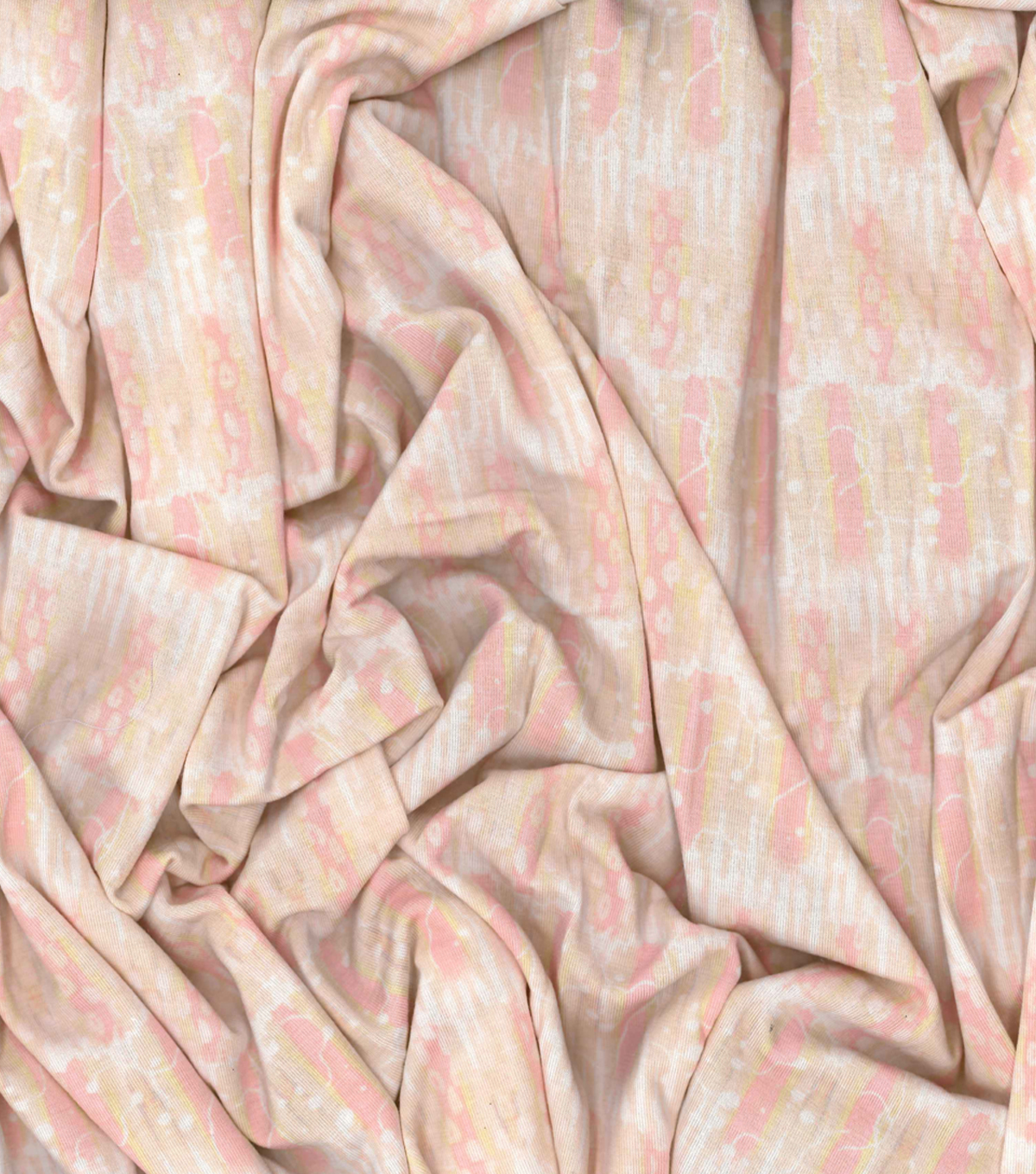 Kathy Davis Rayon & Spandex Apparel Fabric 58\u0027\u0027-Coral Stripes