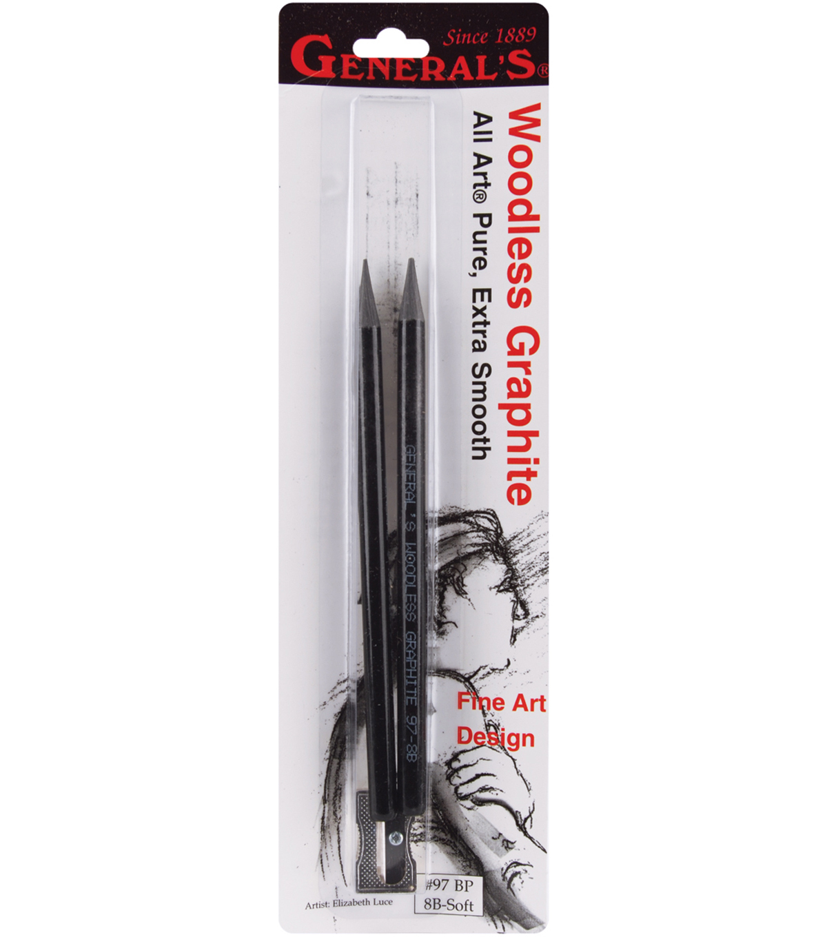 2pk Woodless Pencils W Sharpener Carded