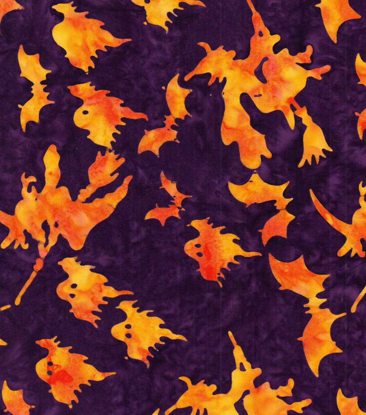 Halloween Cotton Fabric 44\u0022-Bewitching Batik