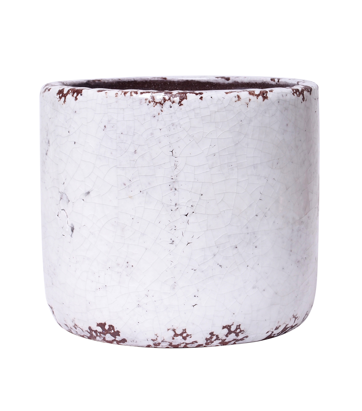 Bloom Room Large Ceramic Planter-White Crackle