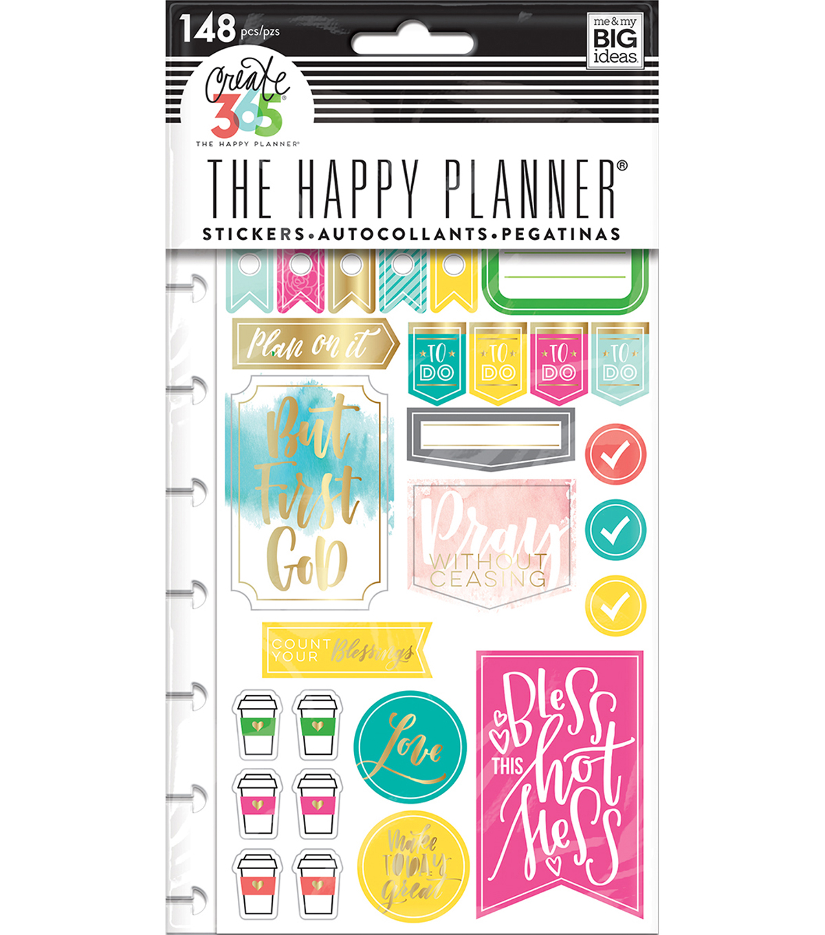 Happy Planner Stickers 5/Sheets -Faith Gratitude-Classic