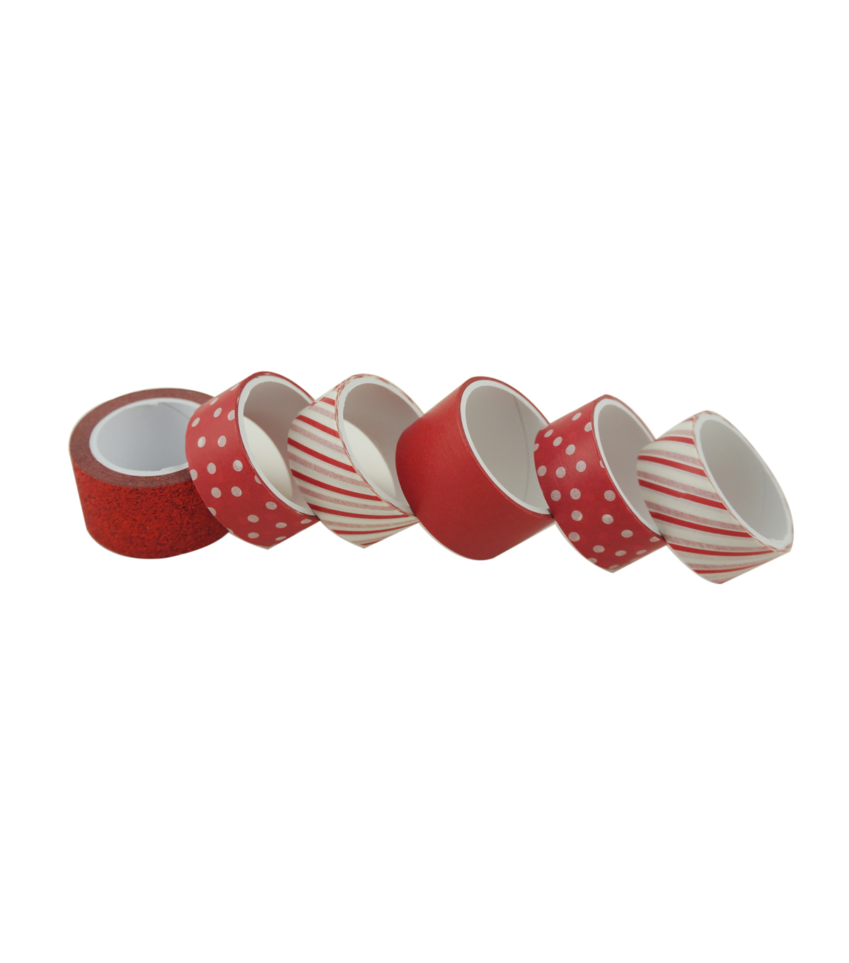 Cheer & Co. 6 pk Washi Tapes 2.95 yds-Red