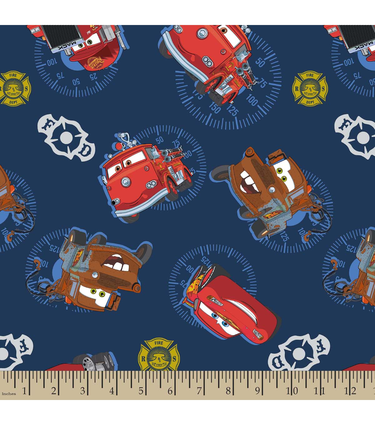Disney PIXAR Cars Print Fabric-Cars Allover | JOANN