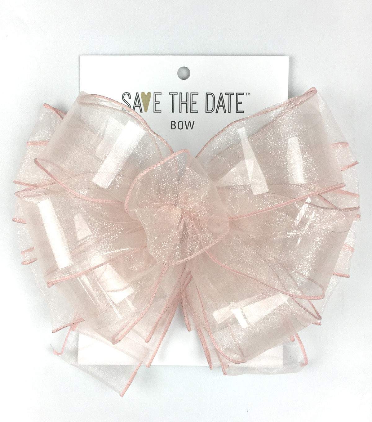Save the Date 2.5\u0022 Bow-Blush Sheer