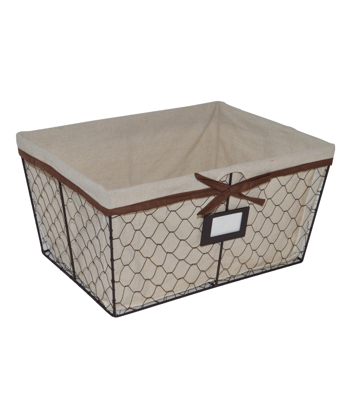 Farm Storage Medium Lined Chicken Wire Basket