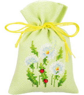 Vervaco Sachet Bags Counted Cross Stitch Kit 3.25\u0027\u0027X4.75\u0027\u0027-Dandelions