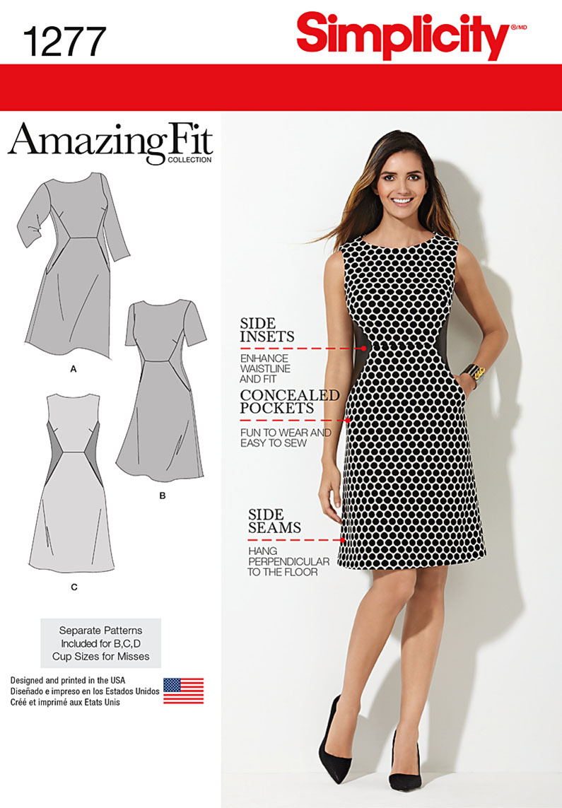 Simplicity Pattern 1277BB 20W-28W -Misses Dress