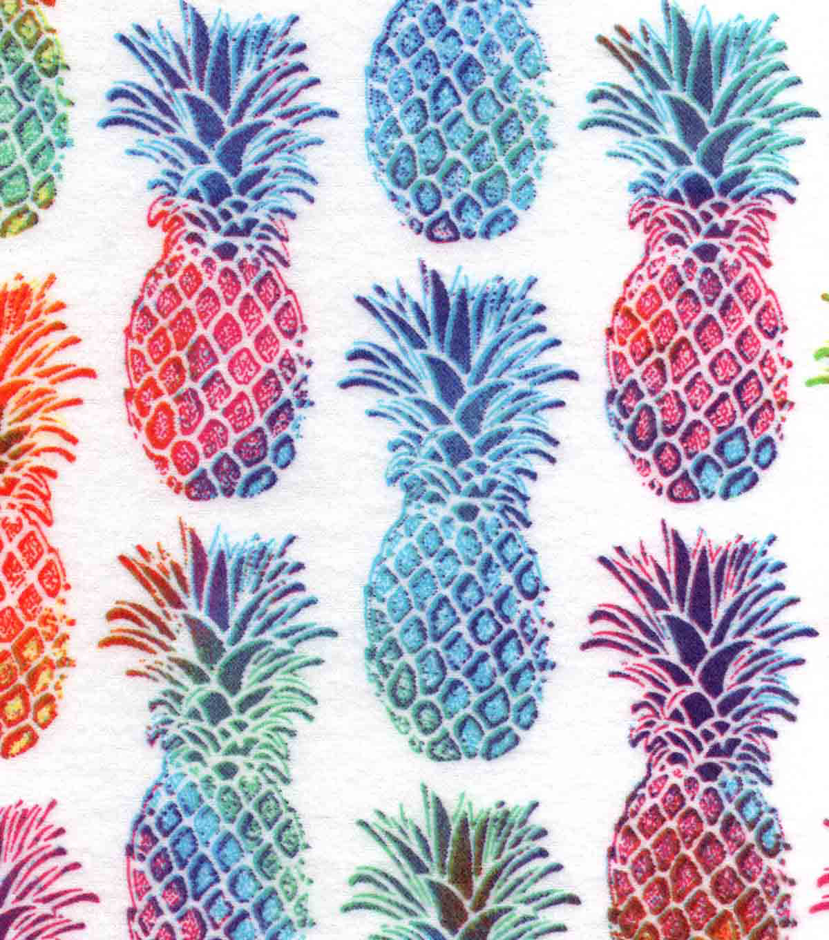 Snuggle Flannel Print Fabric -Bright Pineapple