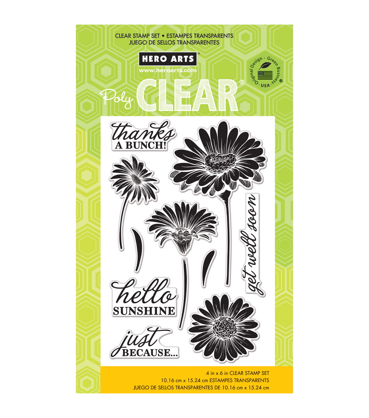 Hero Arts Hello Sunshine Daisies Clear Stamps