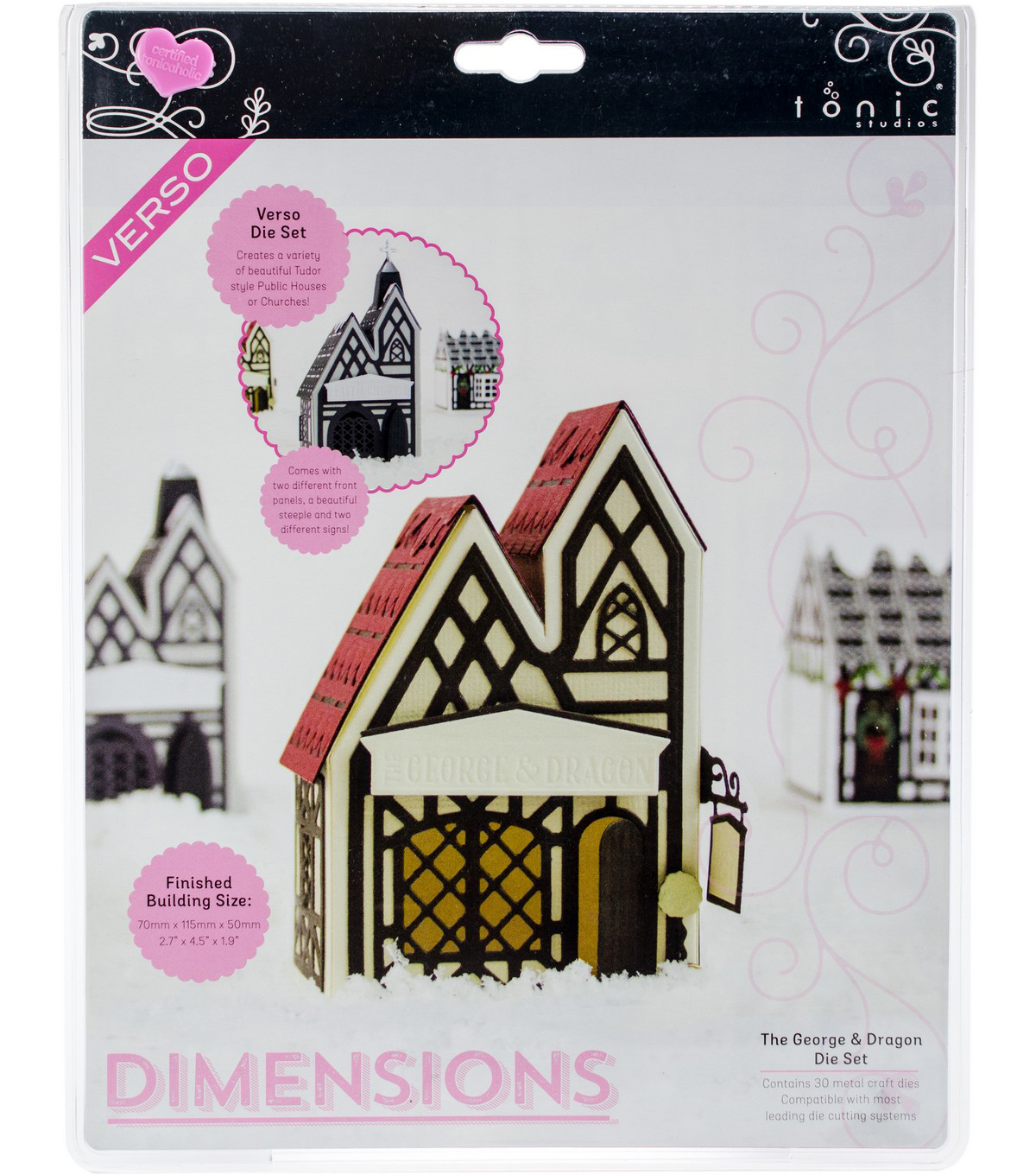 Tonic Studios Dimensions Tudor Town 30 pk Dies-The George & Dragon