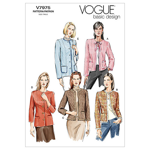 Vogue Patterns Misses Jacket-V7975
