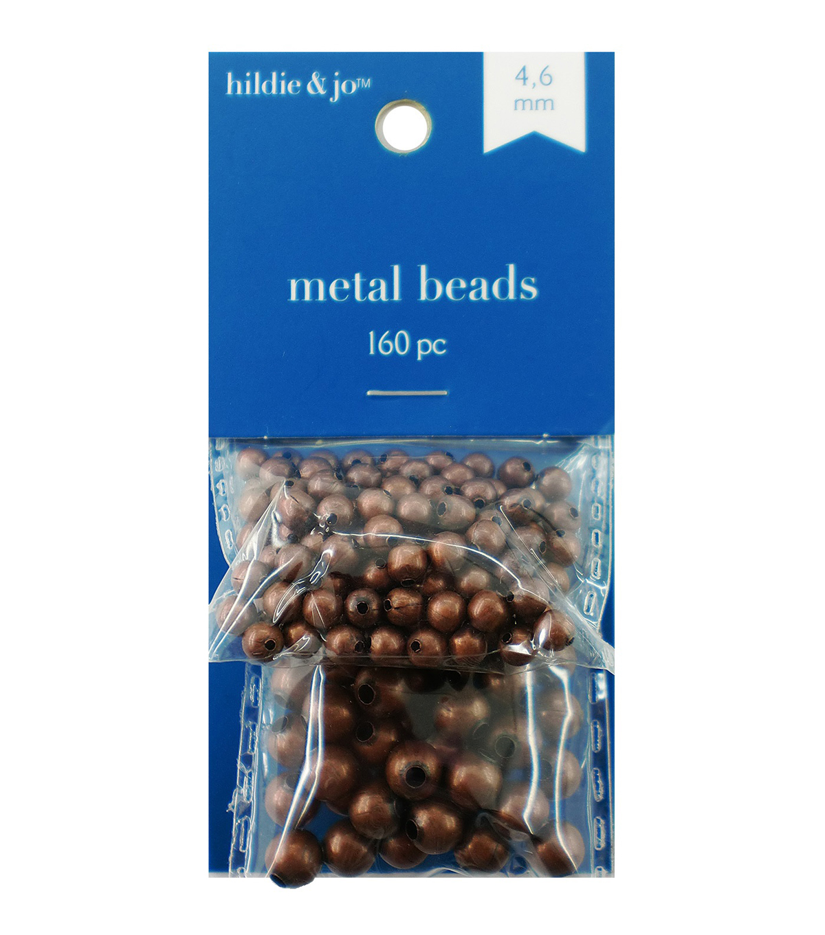 Blue Moon Beads Metal Beads 4mm, 6mm, Round, Oxidized Copper