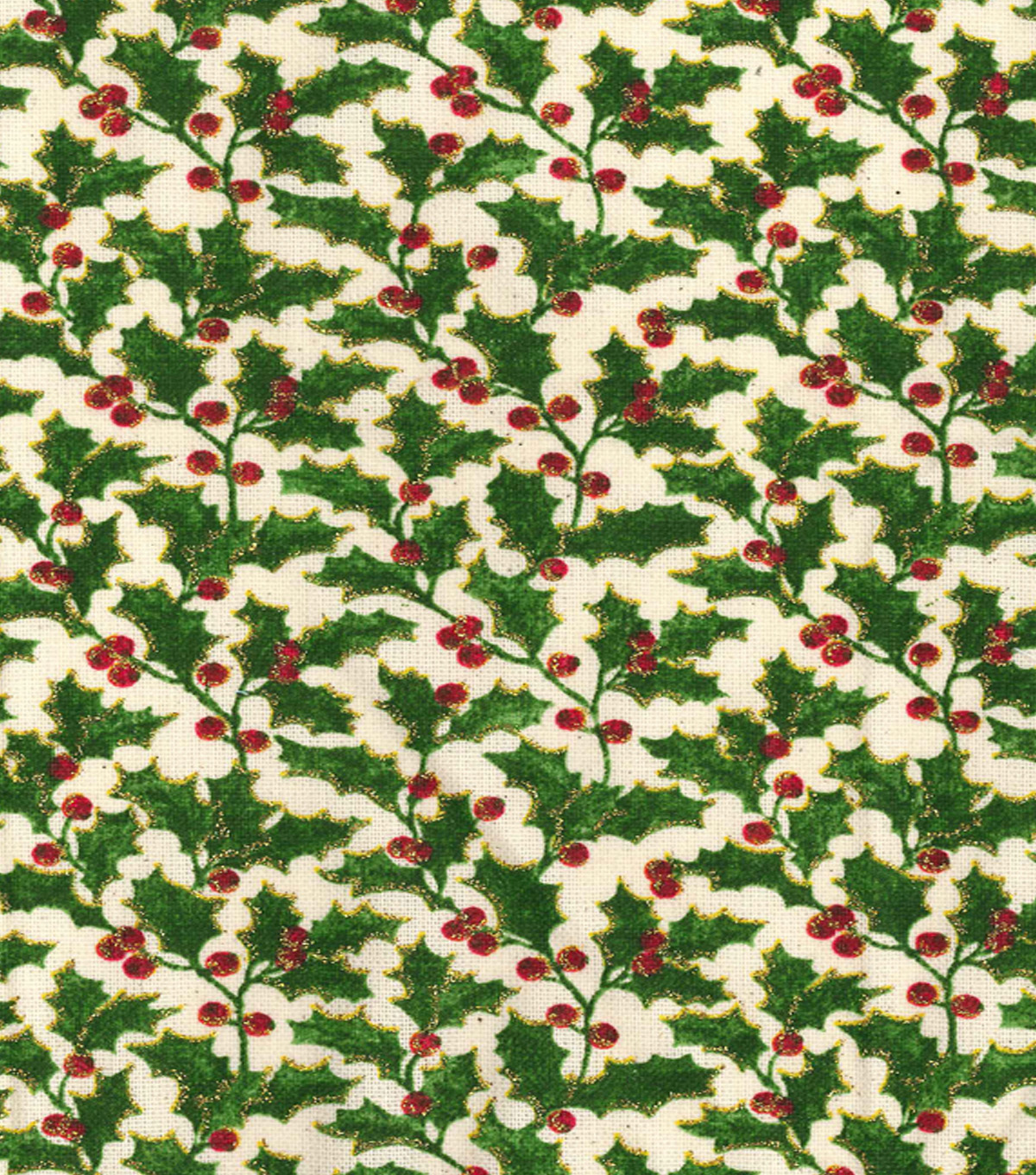 Maker\u0027s Holiday Cotton Print Fabric 44\u0027\u0027-Holly