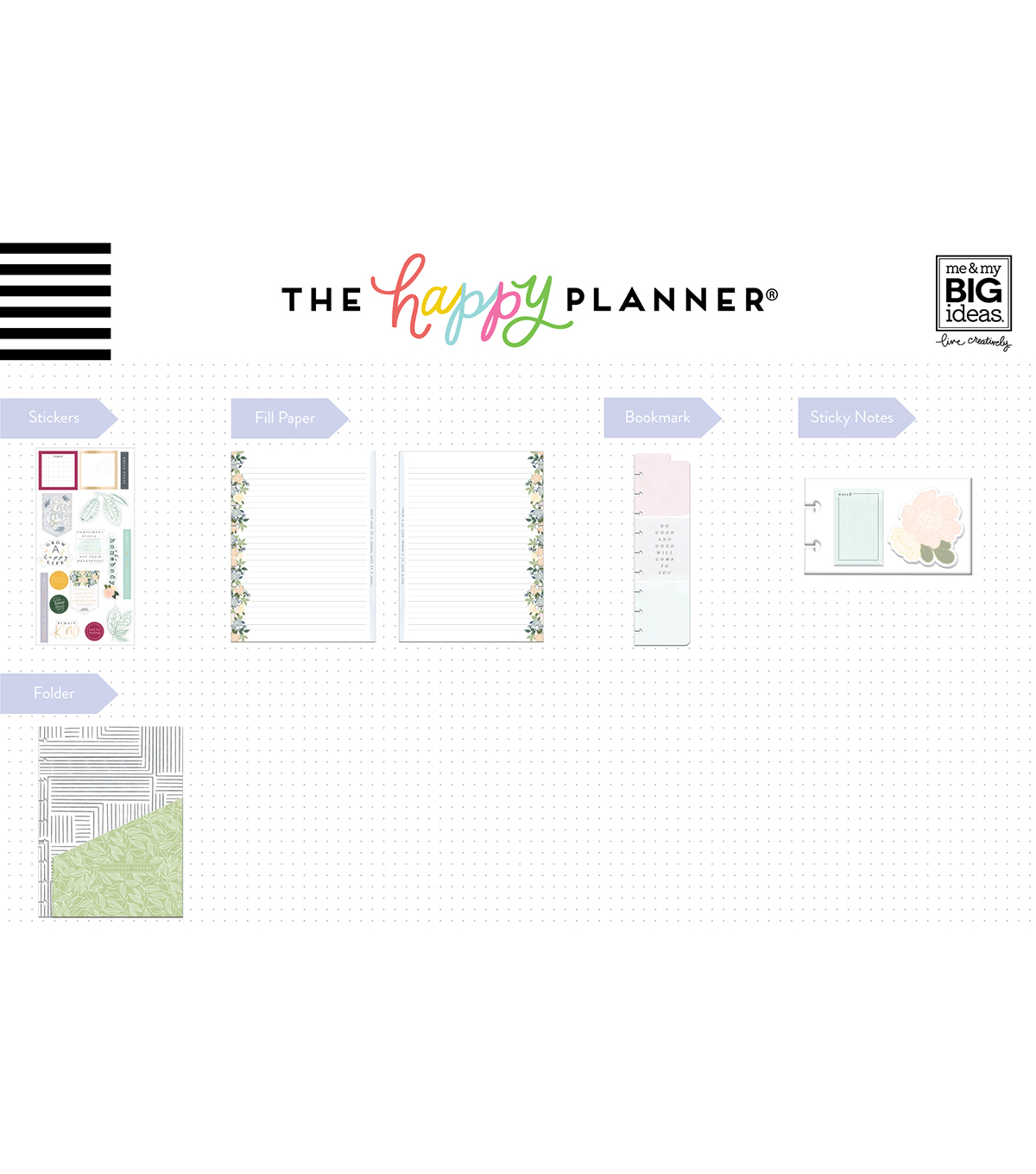 The Happy Planner Girl Classic Planner Accessory Pack-Homebody