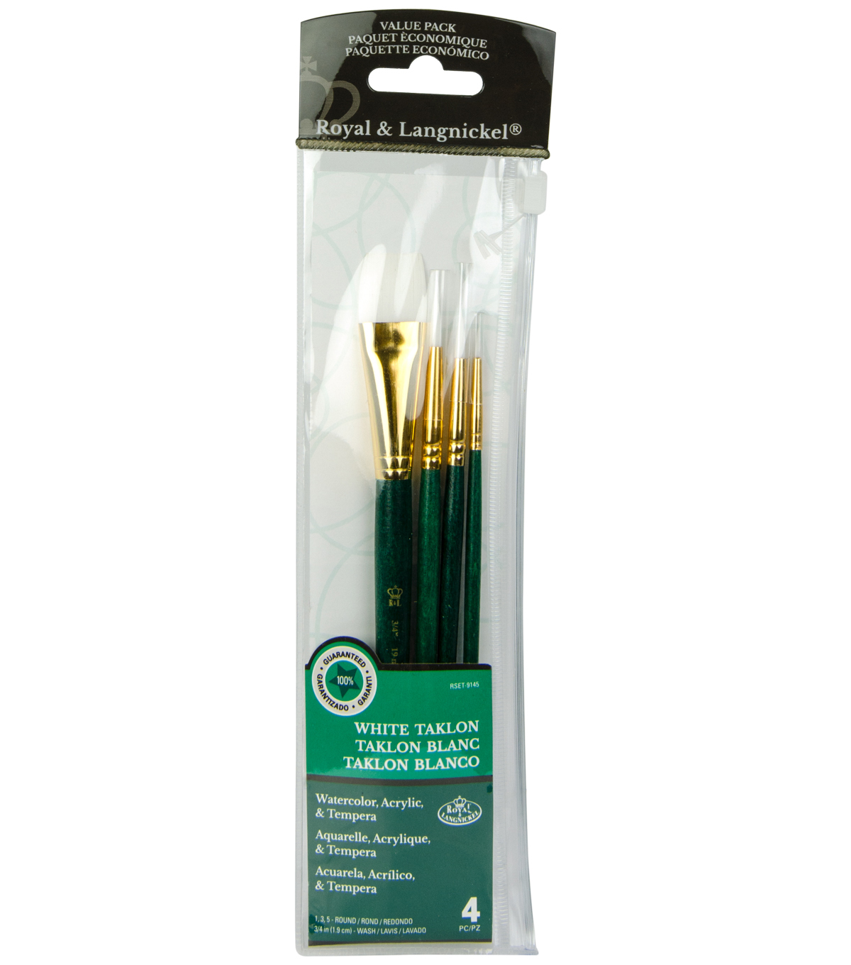 Royal Langnickel 4pc Brush Set-White Taklon