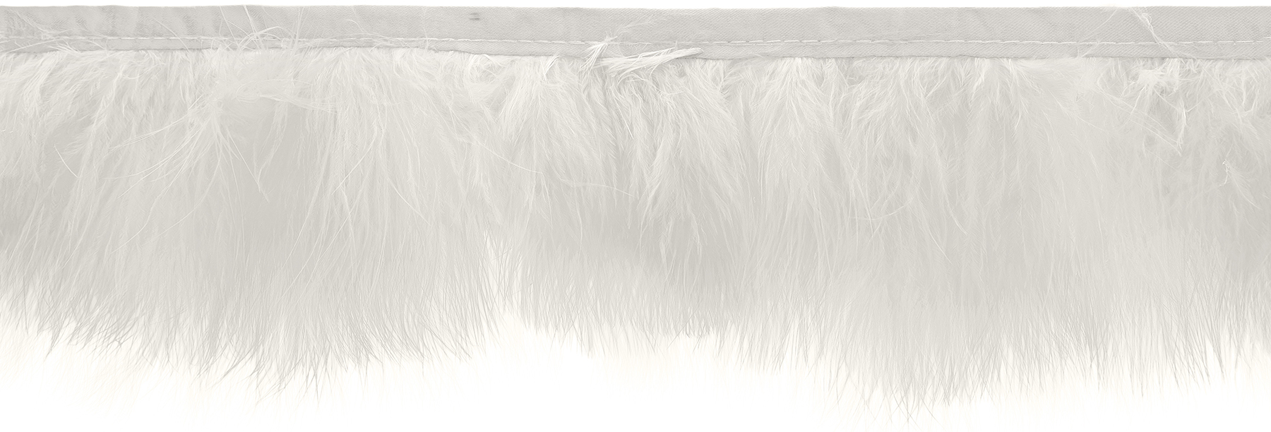 Wrights Feather Trim 3\u0027\u0027-White
