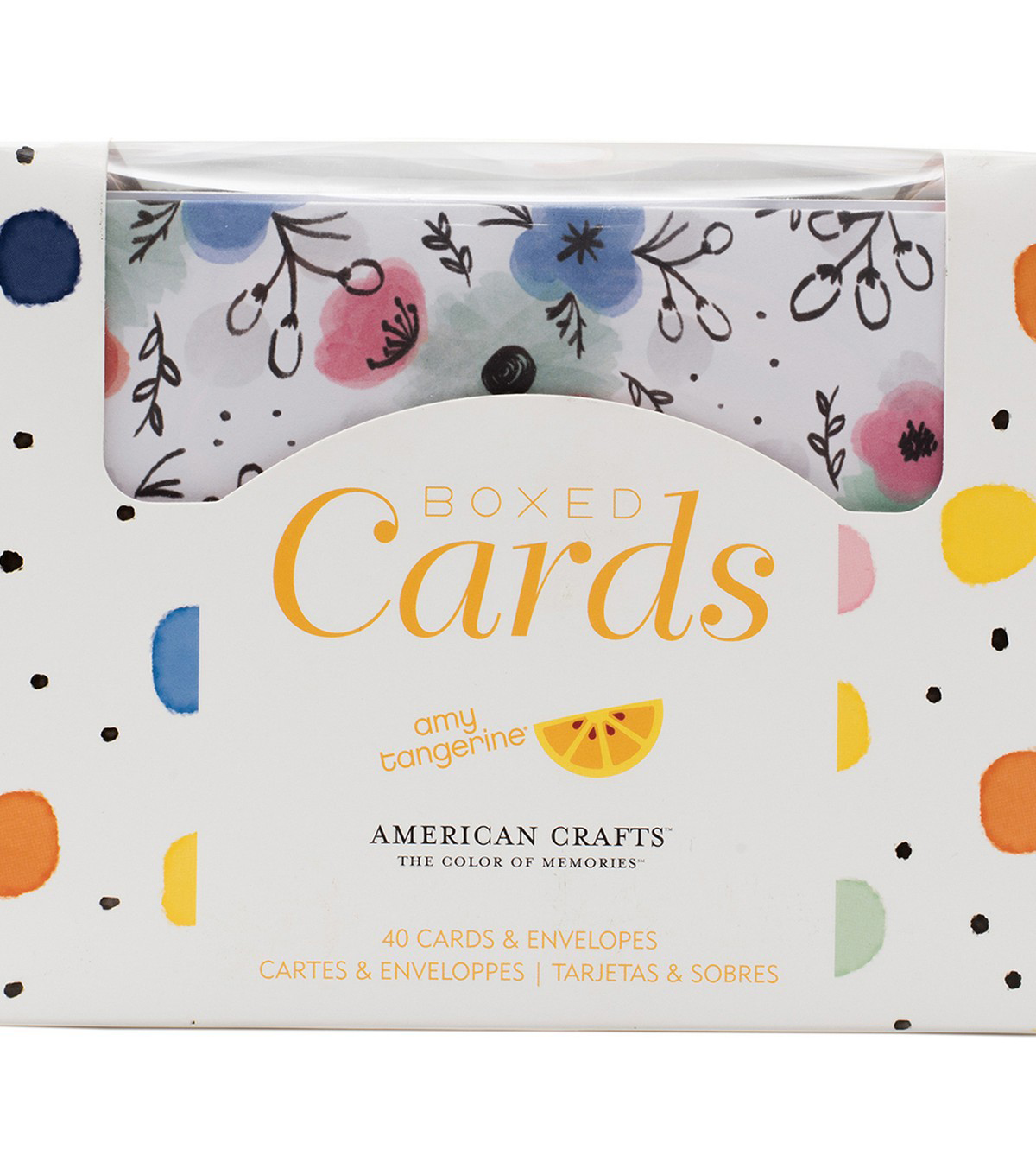 American Crafts Amy Tangerine Finders Keepers A2 Boxed Cards & Envelopes