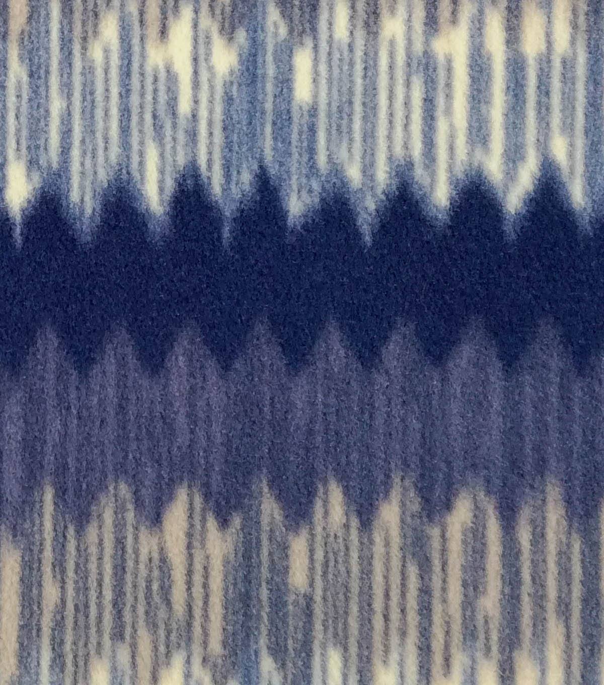 Anti-Pill Fleece Fabric -Cool Wilderness Stripe