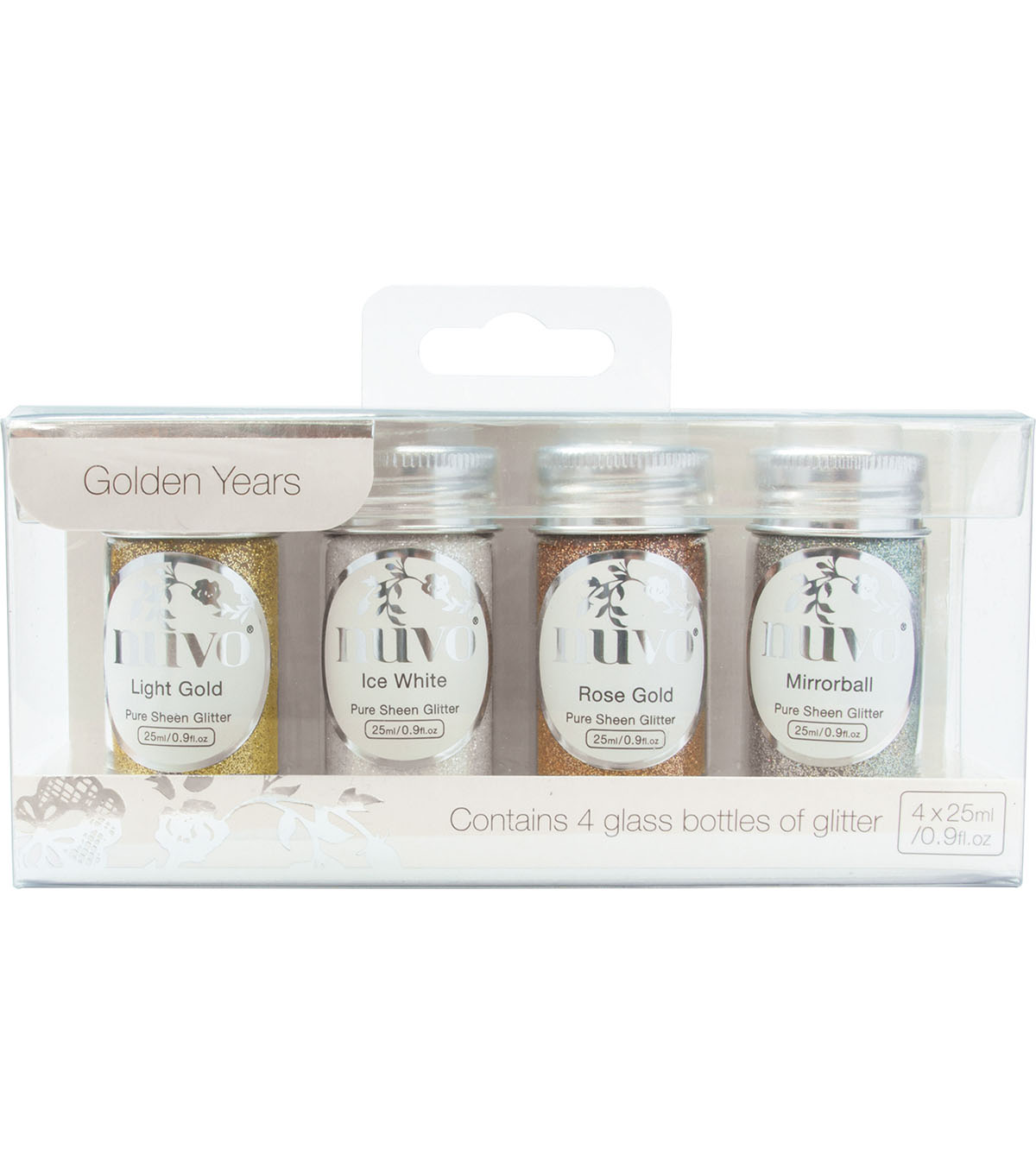 Nuvo Pure Sheen 4 pk Glitter-Golden Years