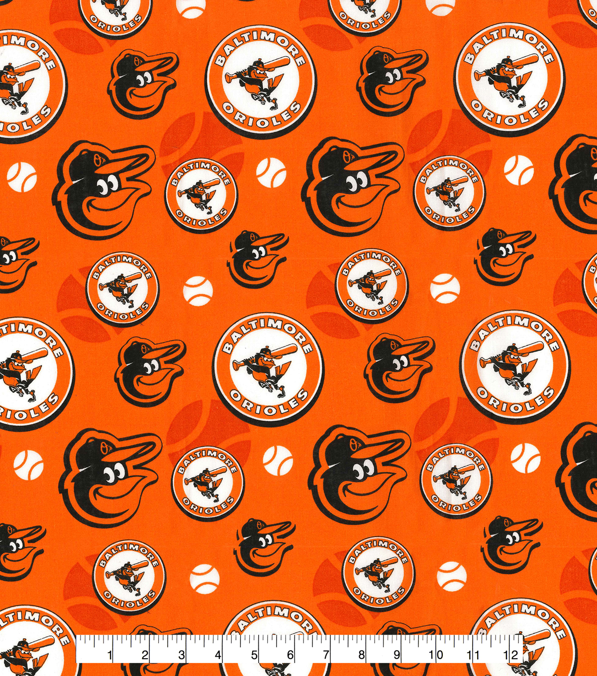 Cooperstown Baltimore Orioles Cotton Fabric 44\u0027\u0027