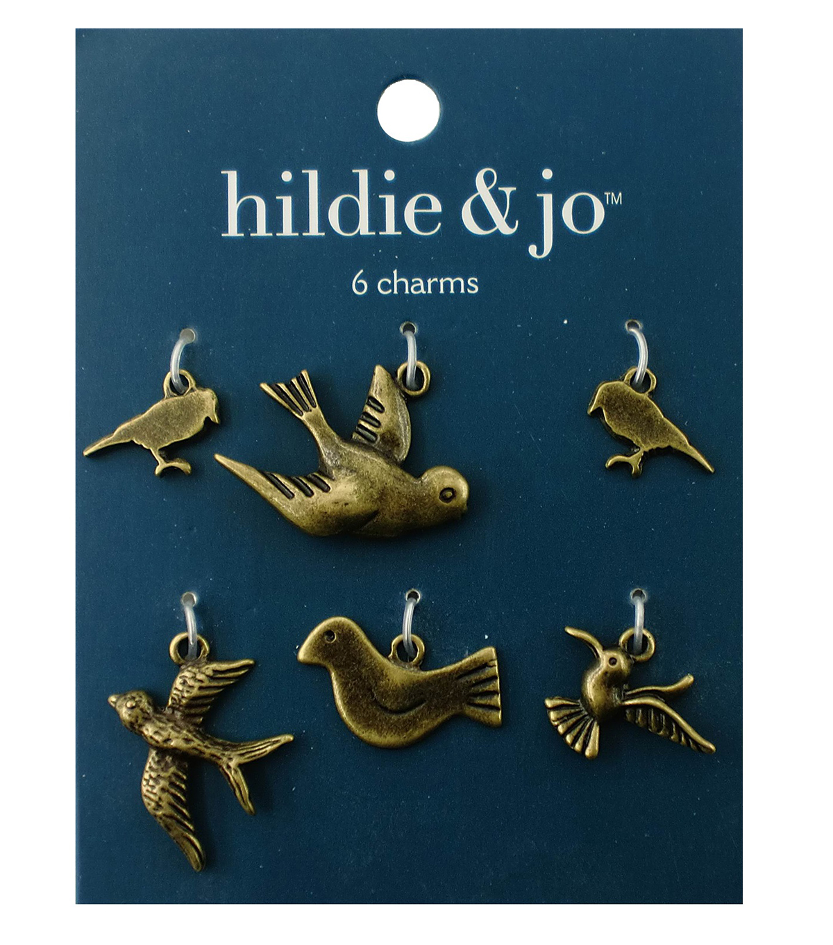 Blue Moon Beads Metal Charms Birds, Oxidized Brass