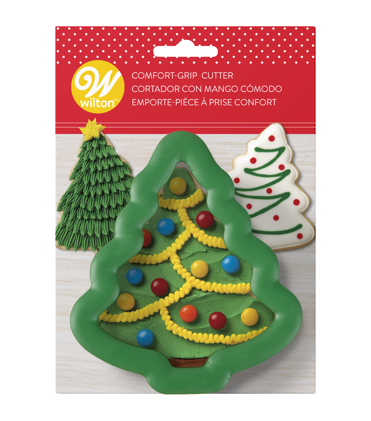 wilton large holiday tree comfort grip cookie cutter