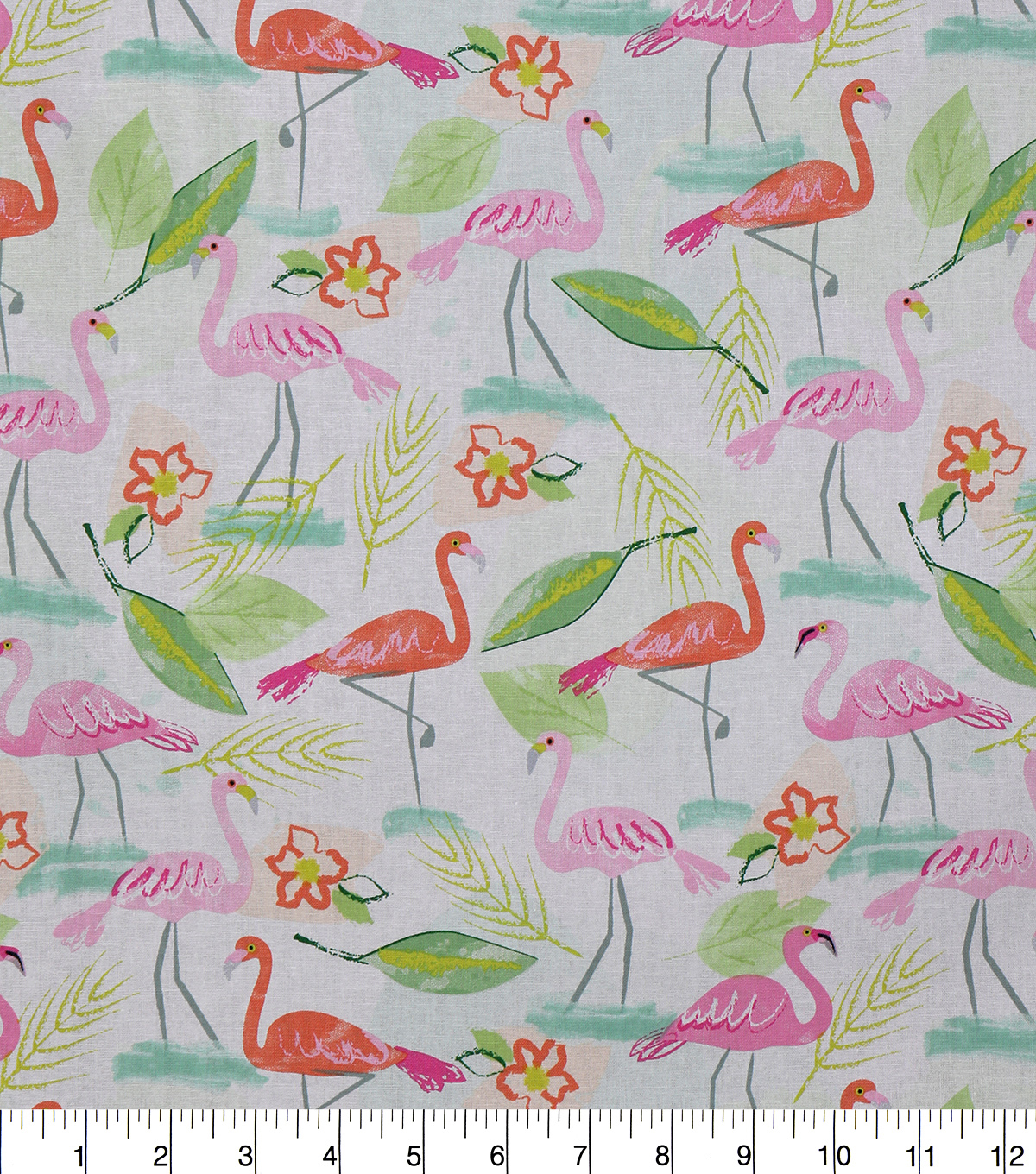 Novelty Cotton Fabric-Pastel Flamingos
