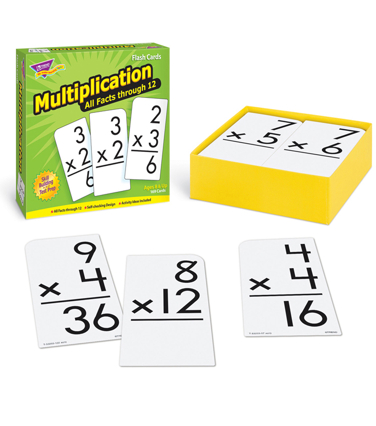 Trend Enterprises Inc. Multiplication 0-12 All Facts Flash Cards