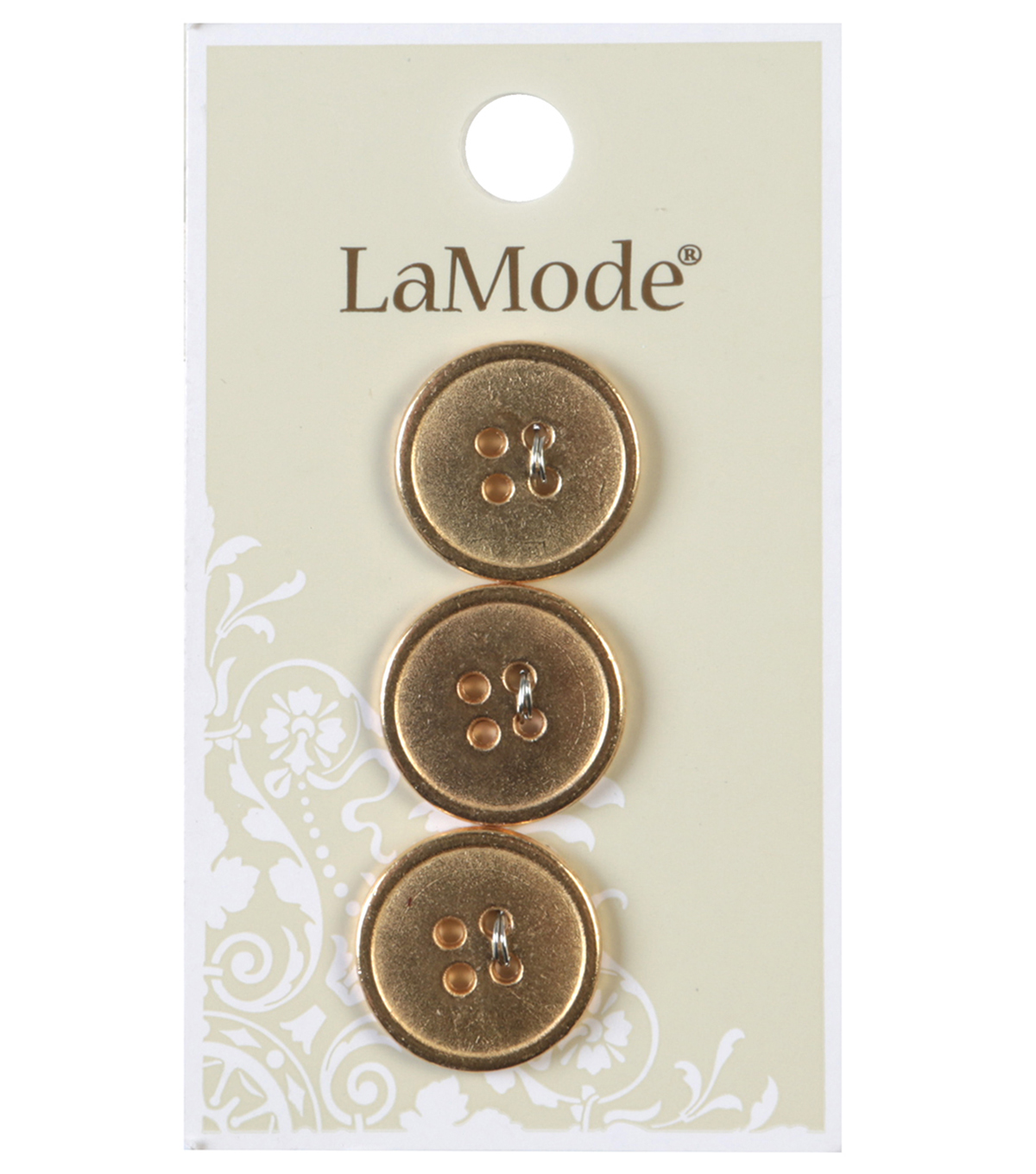 LaMode 4 Hole Gold Metal Buttons 18mm