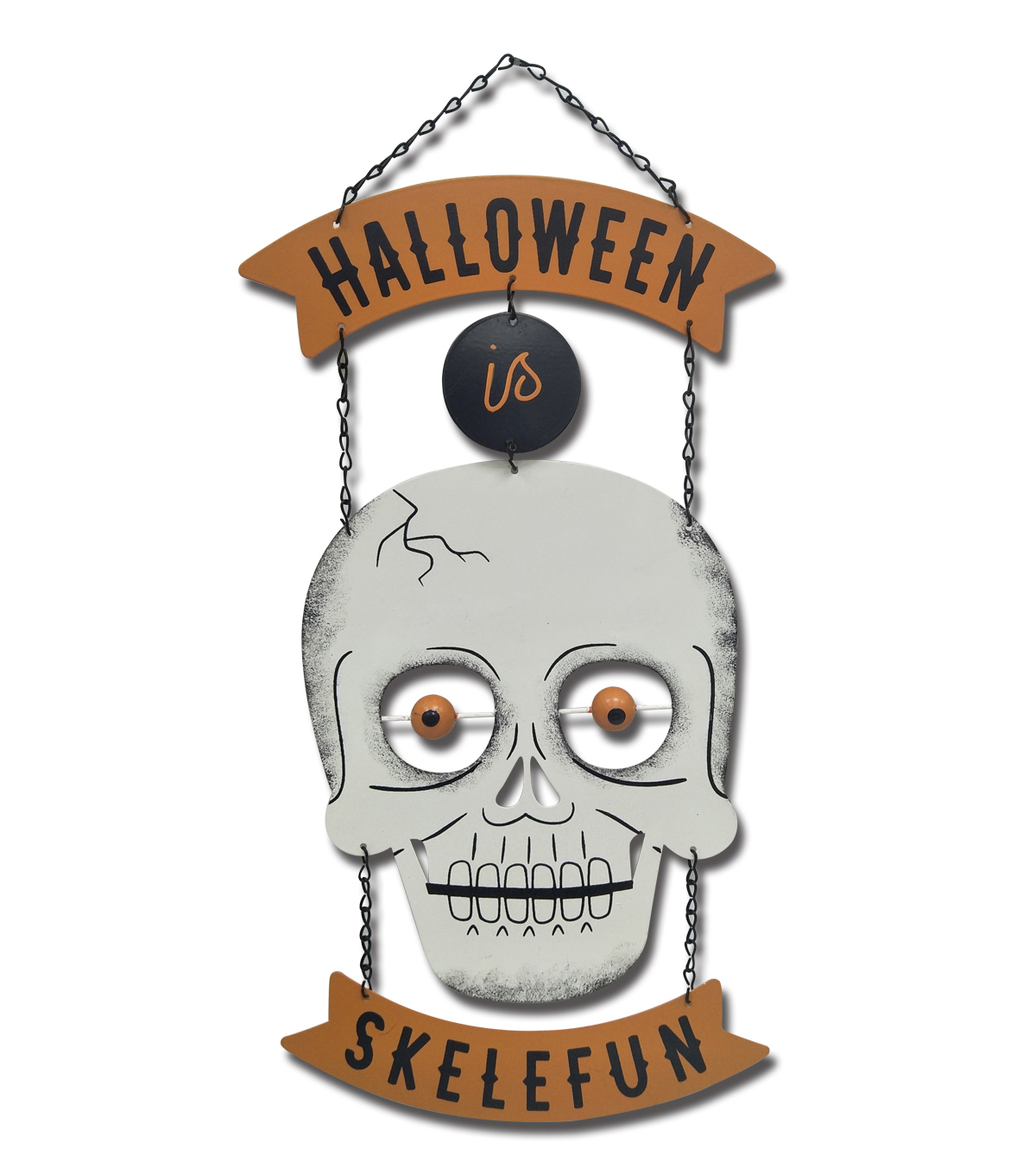 Maker\u0027s Halloween Skull Wall Decor-Halloween is Skelefun