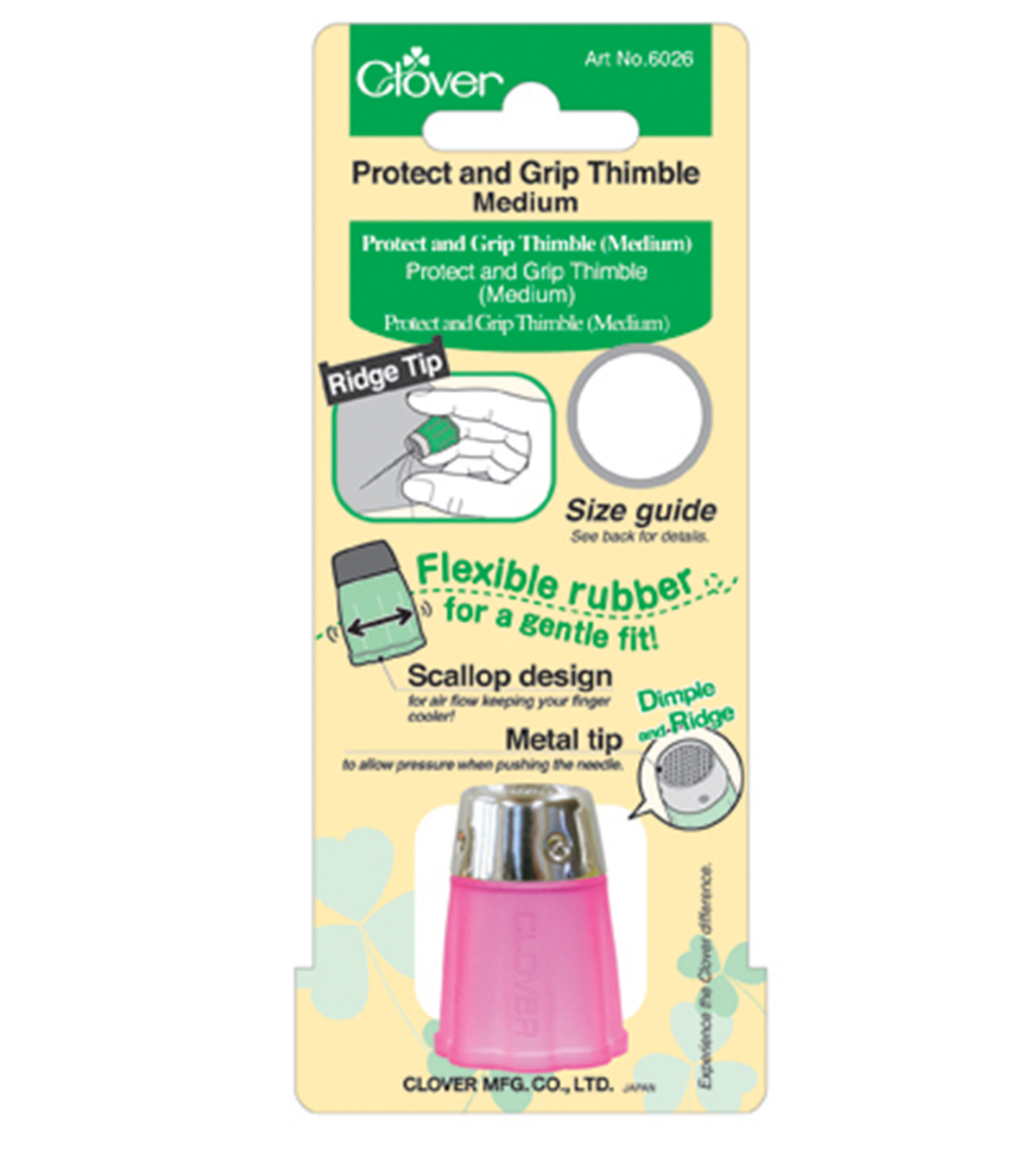 Clover-Protect & Grip Thimble Medium