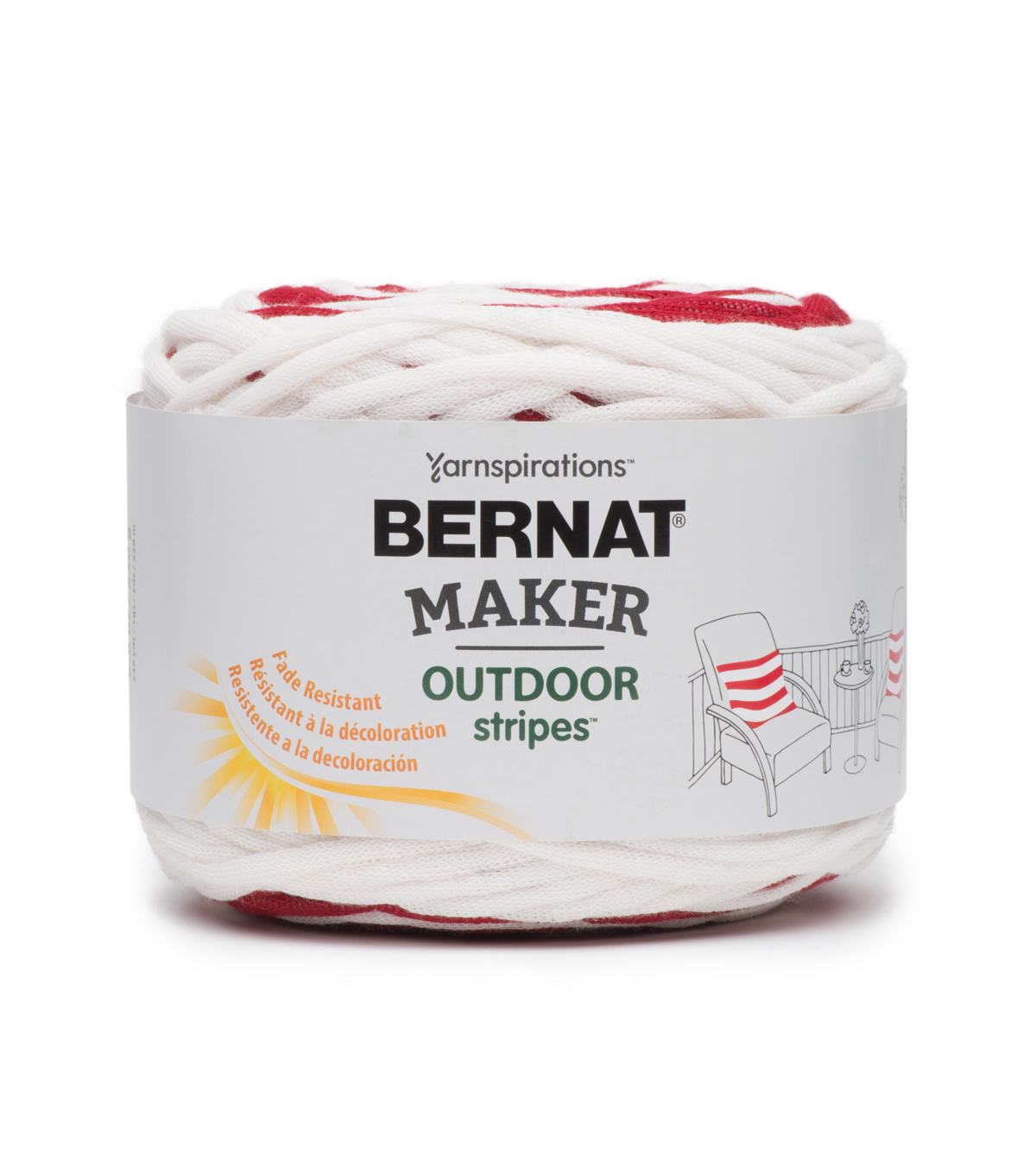 Bernat Maker Outdoor Stripe Yarn
