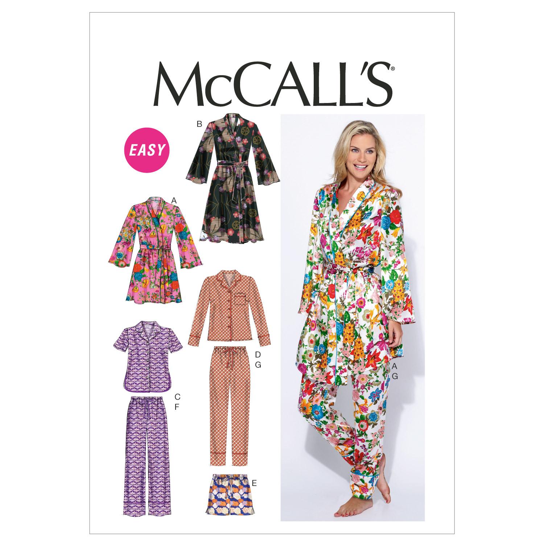 Misses\' Robe, Belt, Tops, Shorts and Pants-8-10-12-14-16 Pattern | JOANN