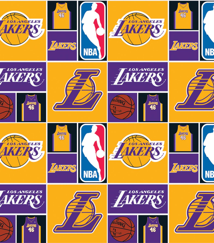 LA Lakers Patch Cotton Fabric 44\