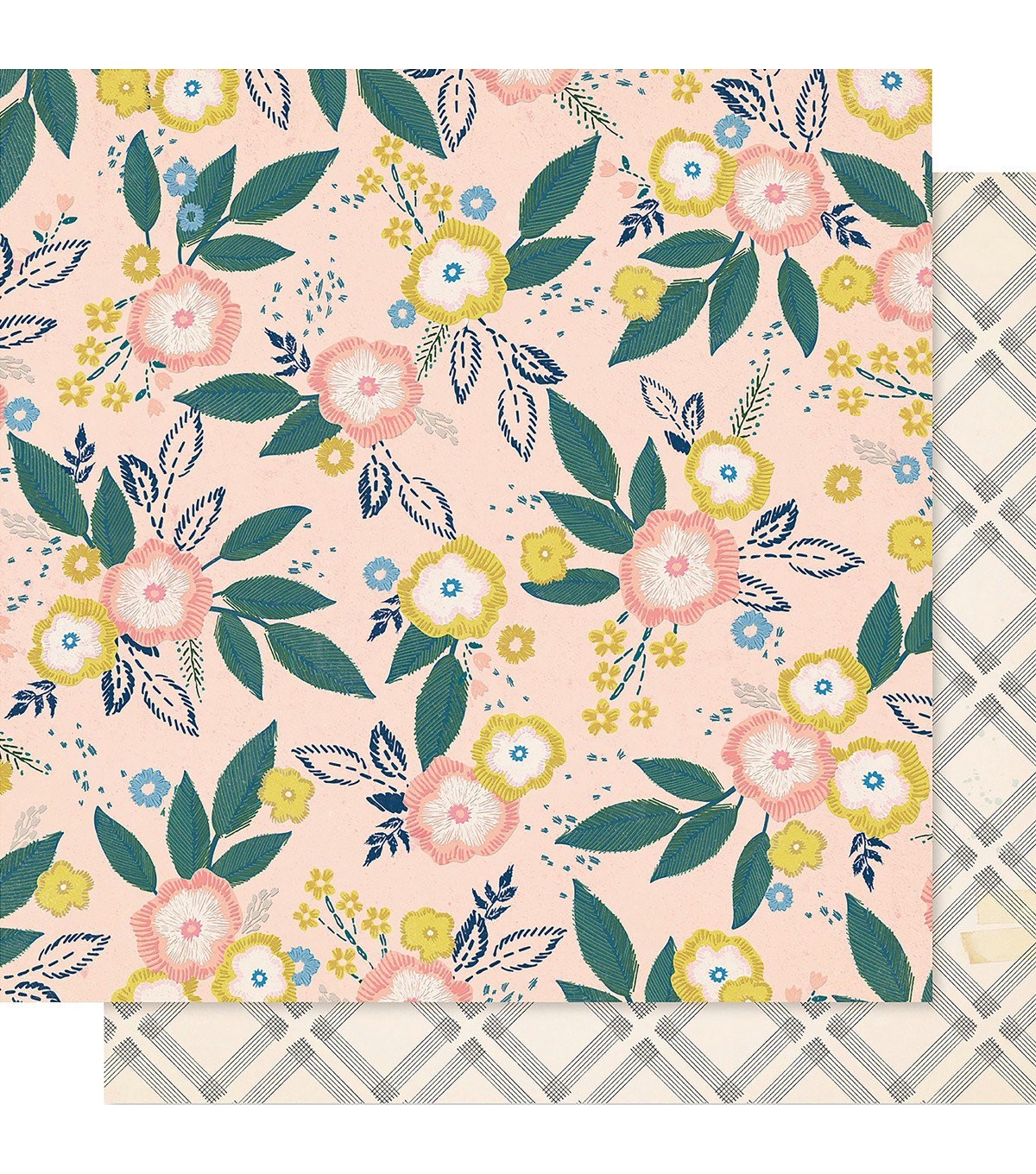 Maggie Holmes Willow Lane Double-Sided Cardstock 12\u0022X12\u0022-Blossom
