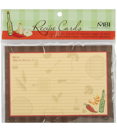 5\u0027\u0027x7\u0027\u0027 Family Recipse 3-Ring Scrapbook Kit Refills-25PK