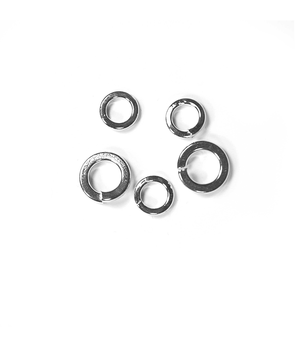 Blue Moon Findings Jump Ring Metal Square Edge 6 & 8 mm Silver
