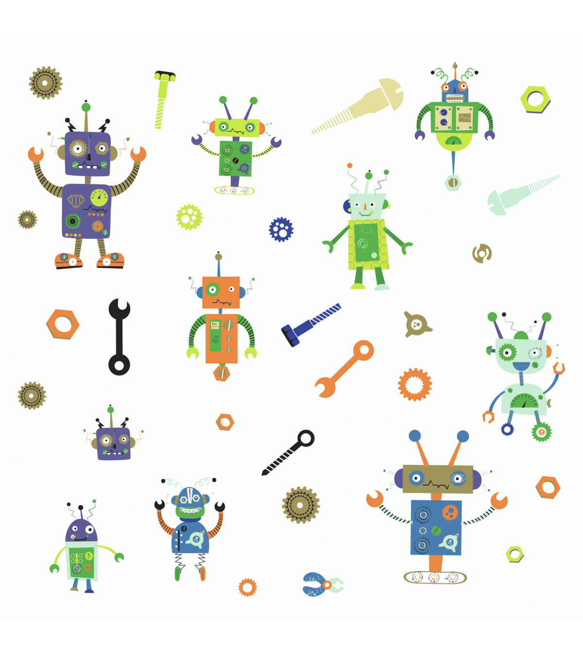 York Wallcoverings Wall Decals-Robots
