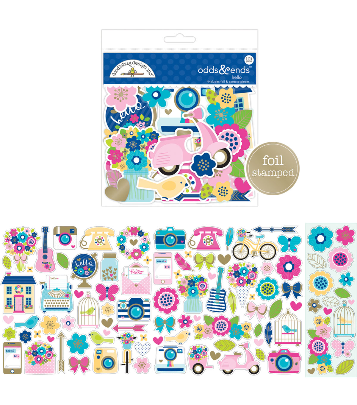 Doodlebug Design Hello Odds & Ends 101 pk Die-Cuts