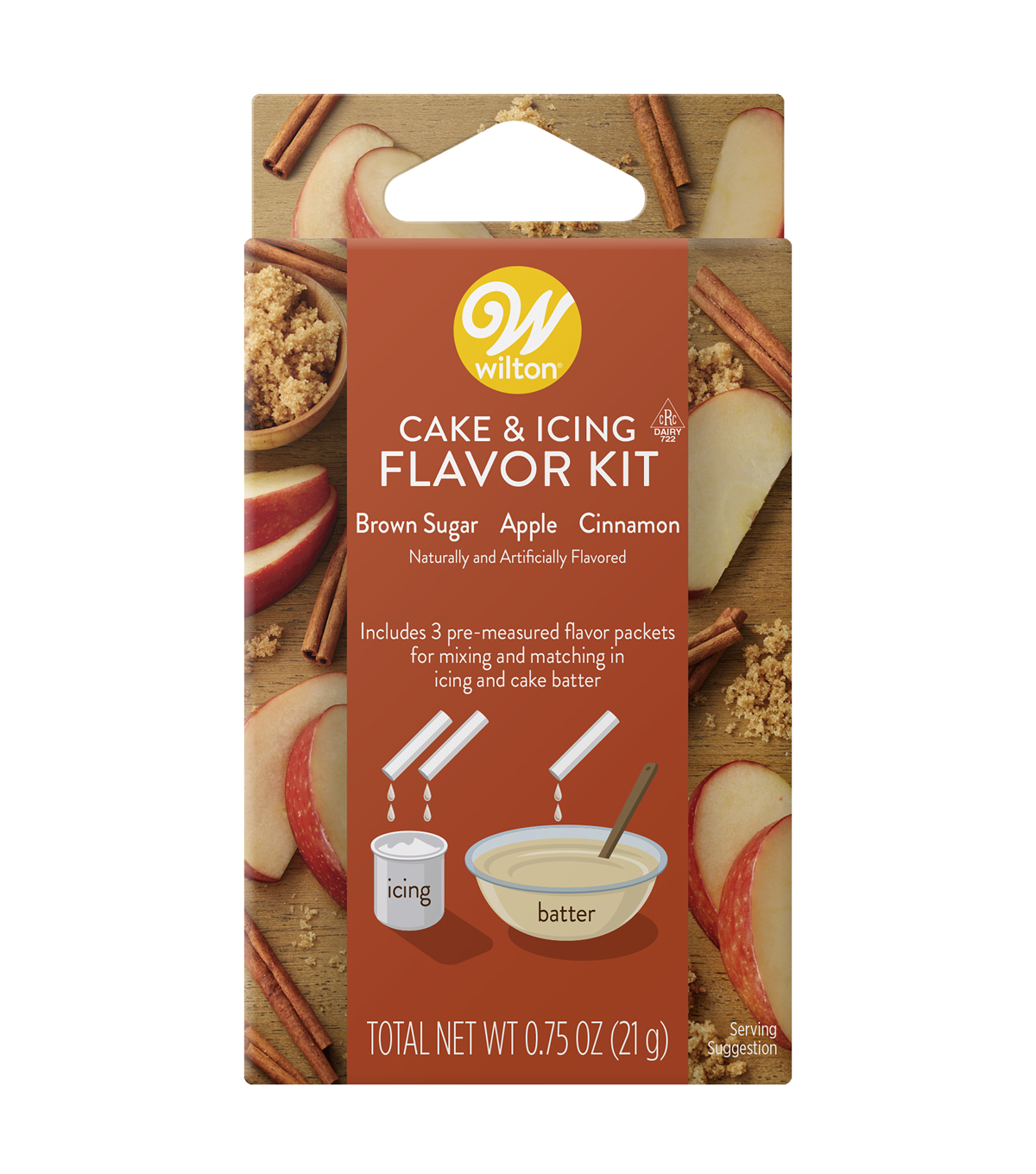 Wilton Cake and Icing Flavor Kit-Brown Sugar Apple Cinnamon