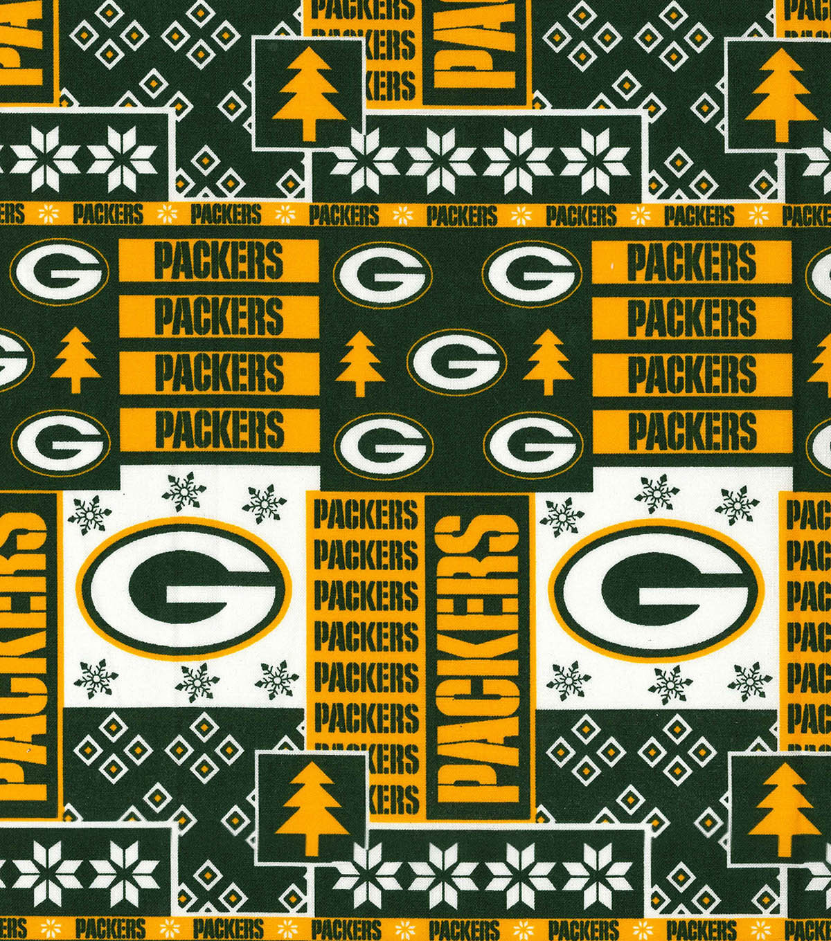 Green Bay Packers Cotton Fabric - Winter  fc0ddc429