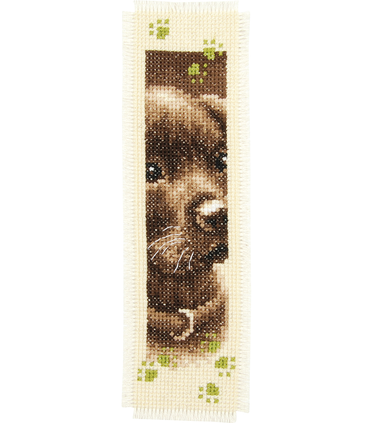 Cat & Dog Bookmarks On Aida Counted Cross Stitch Kit 14 Count
