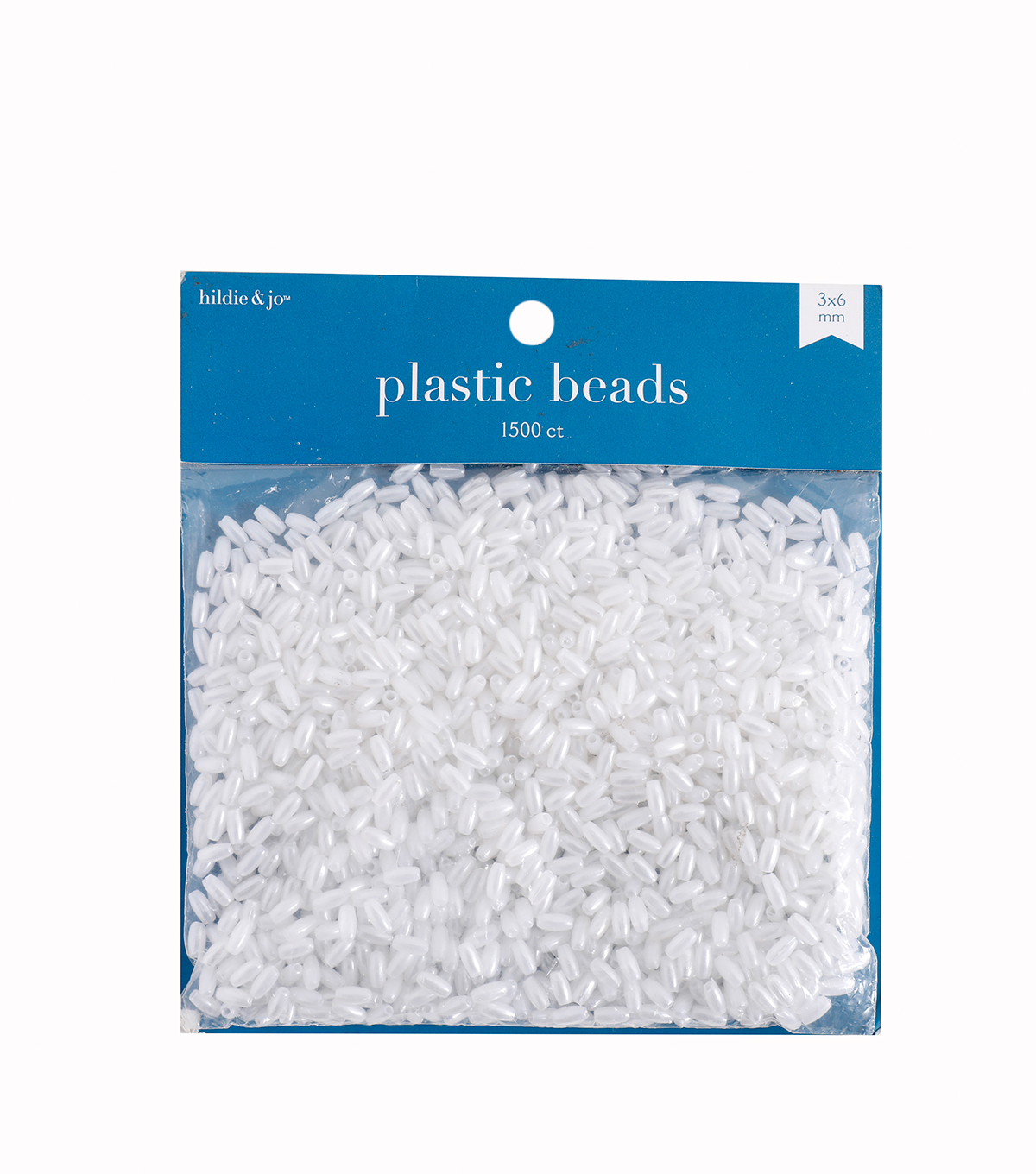 Darice Craft Designer 3x6mm Loose Pearls-1500PK/White