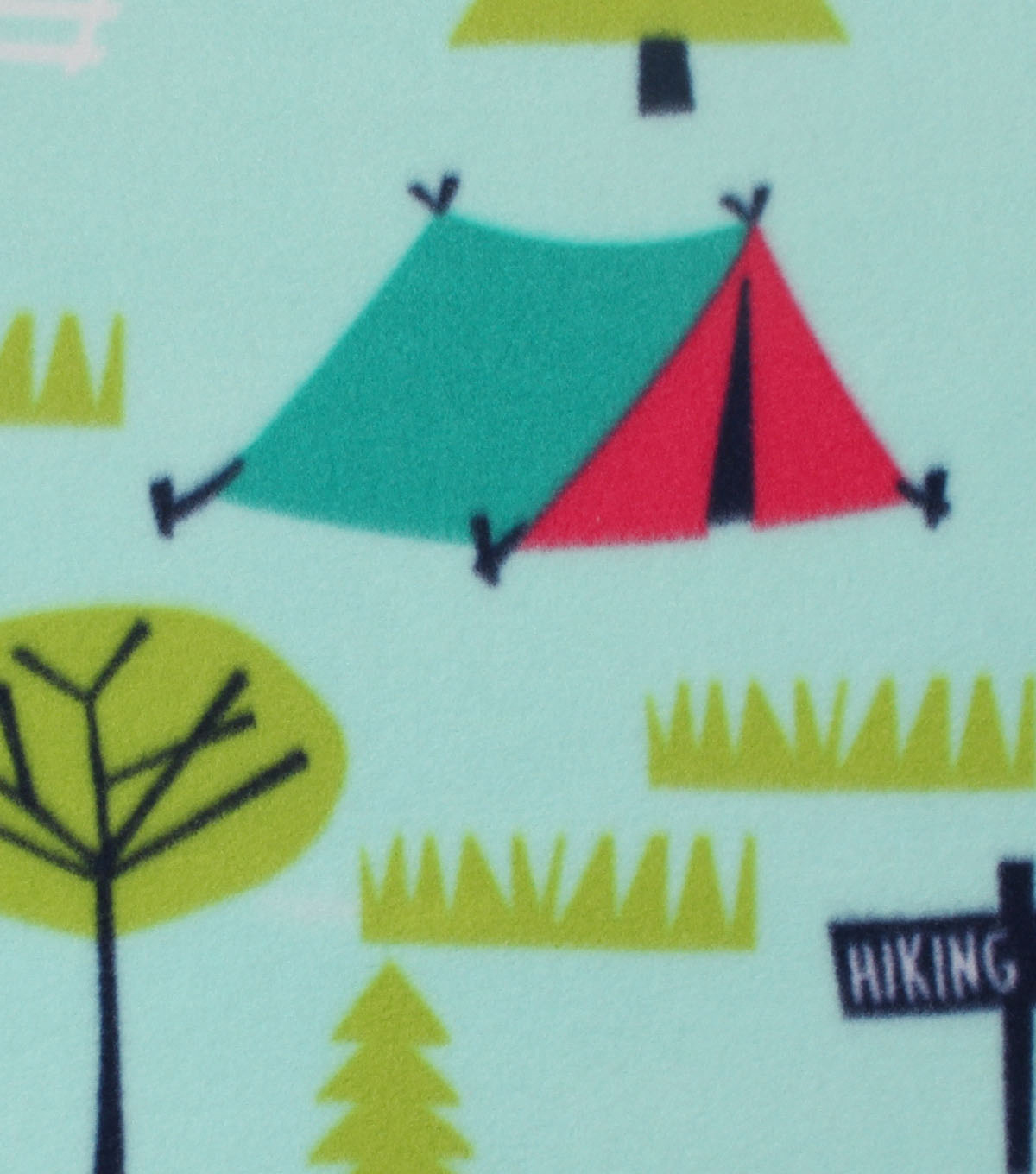 Blizzard Fleece Fabric -Summer Camping Fun